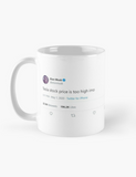 Tesla Stock Price is Too High IMO Elon Musk Tweet Tesla Motors Ceramic Mug