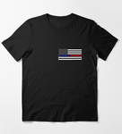Red and Blue Hero American Flag - First Responders Graphic Tee