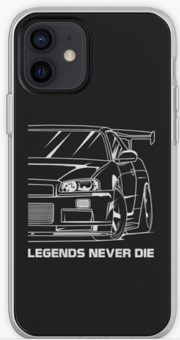 Legends Never Die Nissan Skyline - Car Lovers Phone Case- iPhone, Samsung Galaxy, Galaxy Note Phone Case
