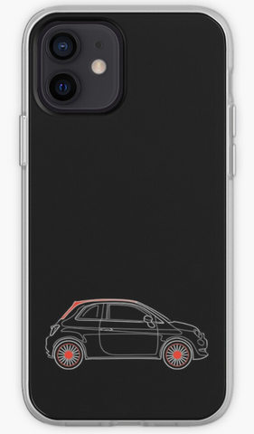Fiat 500 - Car Lovers Phone Case- iPhone, Samsung Galaxy, Galaxy Note Phone Case