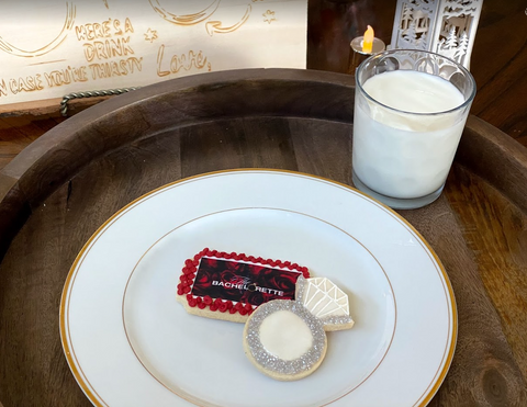 The Bachelorette Show and Engagement Ring Shortbread Cookie Sweet Treat