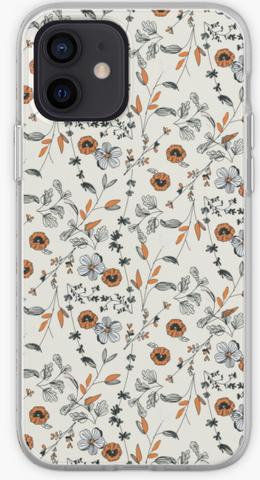 Orange Prairie Flower - iPhone, Samsung Galaxy, Galaxy Note Phone Case - iPhone 12, iPhone 11 iPhone XS +