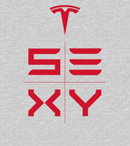 'S3XY' Sexy Red Tesla Motors Graphic Tee