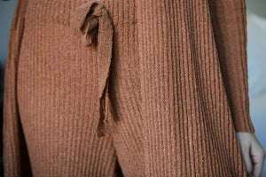 Heather Ribbed Pants