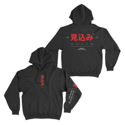 Official Iann Dior Red Characters Hoodie - Black
