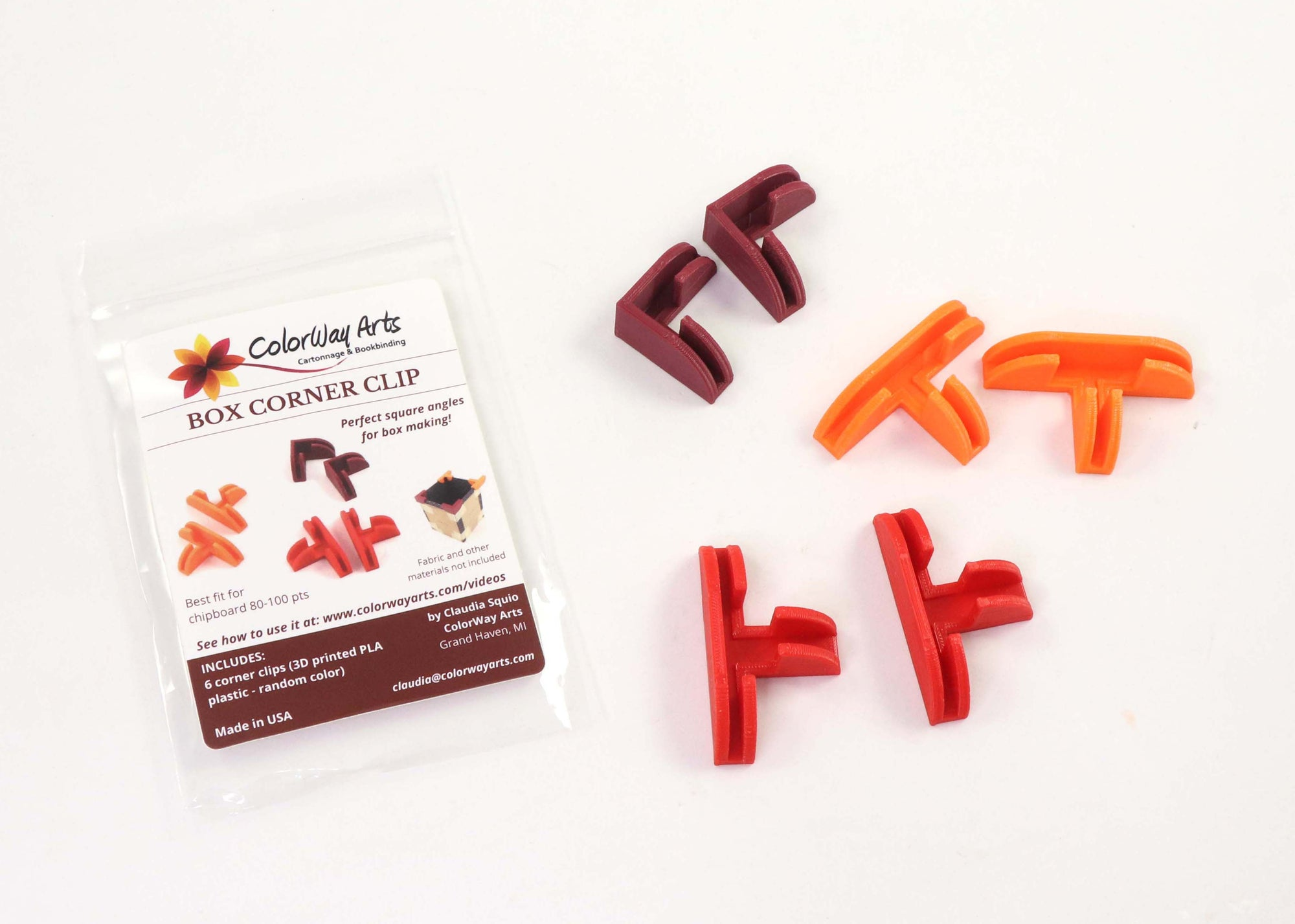 Box corner clips (set of 6) - Colorway Arts