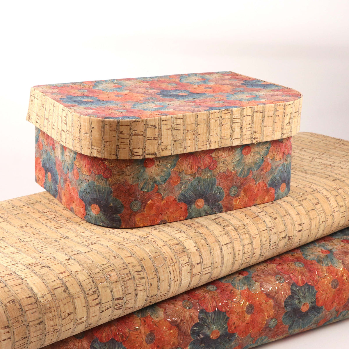 Floral cork fabric - Colorway Arts