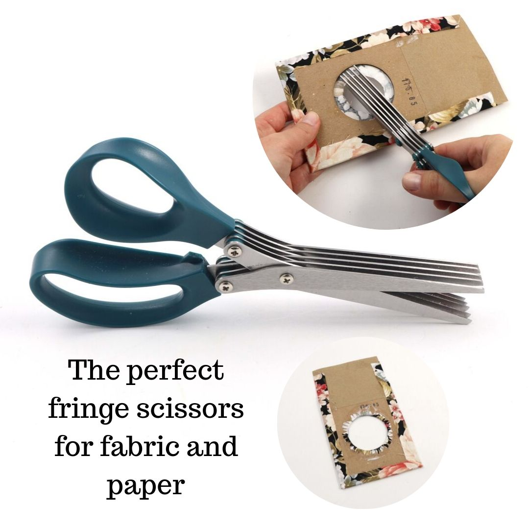 Fringe scissors for fabric and paper; shredder scissors - Colorway Arts