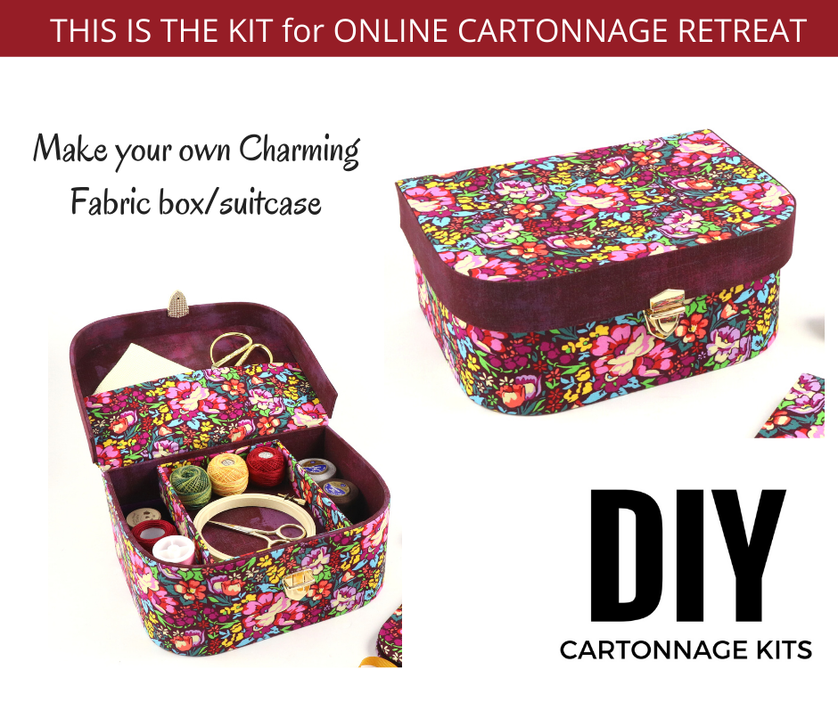 Charming Fabric box/suitcase DIY kit, cartonnage kit 193 - Colorway Arts