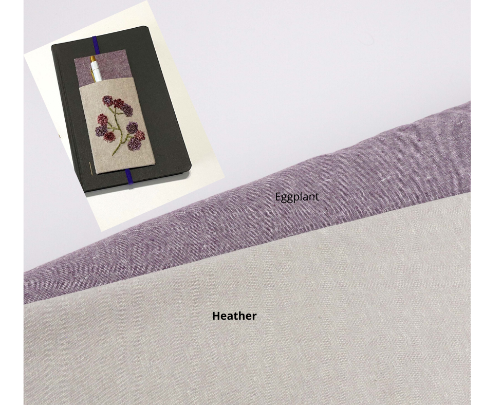 Essex Linen Fabric (Eggplant) - Colorway Arts