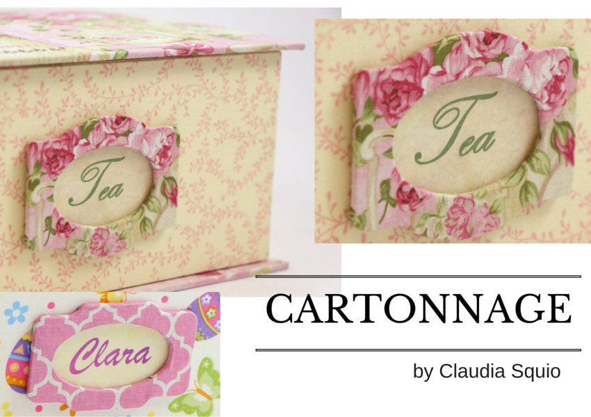 DIY fabric tags, pack with 5, cartonnage kit 107, free online instructions - Colorway Arts