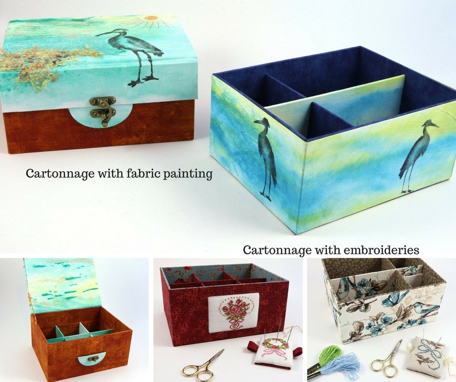 CARTONNAGE Basics & Beyond  - The complete guide for fabric box making, book written by Claudia Squio - Colorway Arts