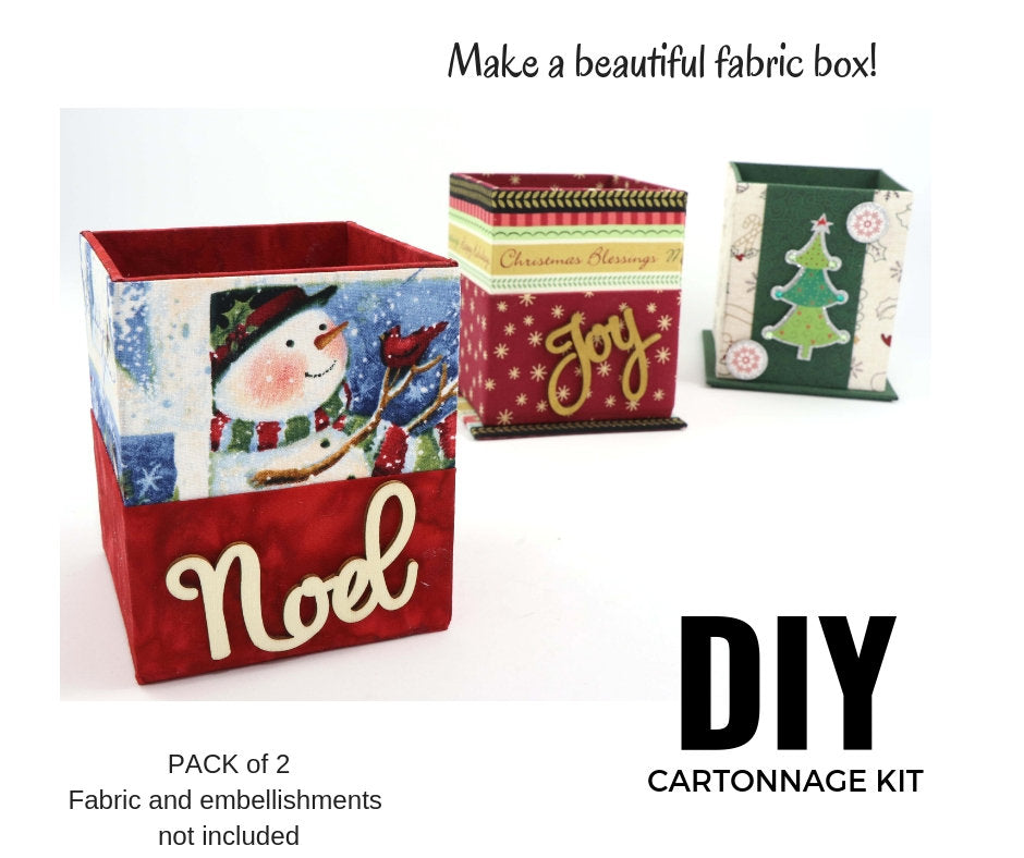 Fabric single box DIY kit, cartonnage kit 104, pack of 2, FREE online instructions - Colorway Arts