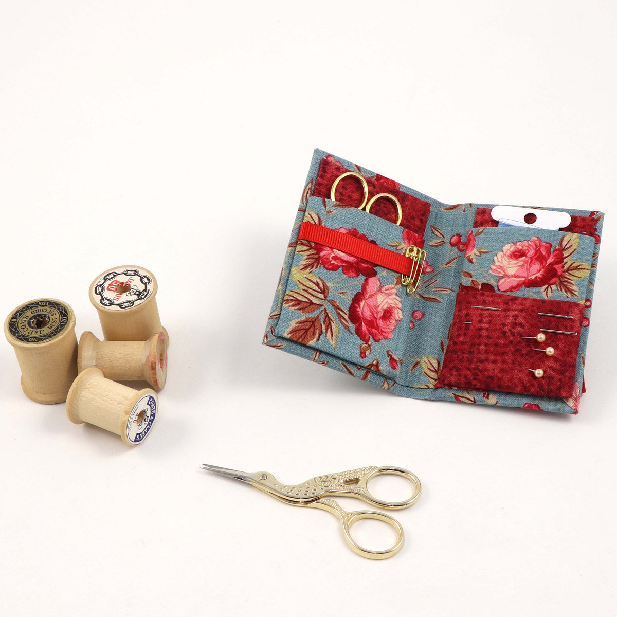 DIY mini fabric sewing kit, pack with 2, cartonnage DIY kit 106, free online instructions - Colorway Arts