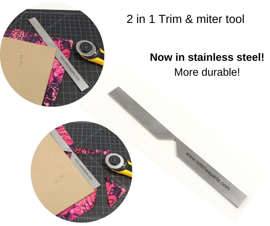 Metal  2 in 1 trim & miter  tool, corner miter tool long, metal miter and trim tool - Colorway Arts