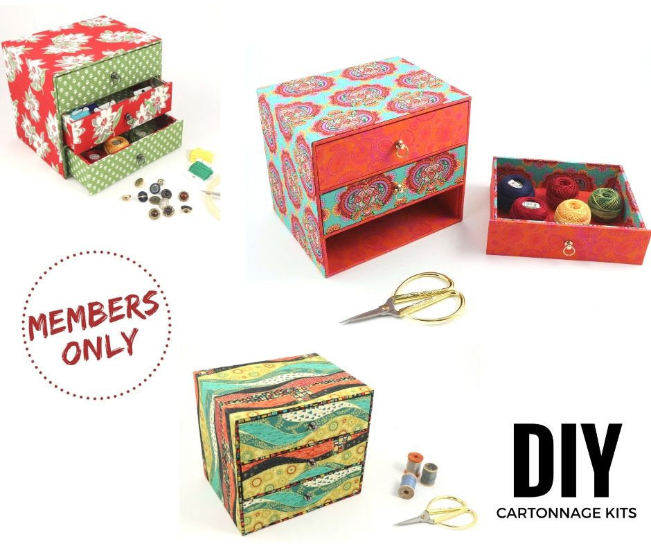 Members only, Chest of drawers DIY kit, cartonnage kit 188 - Colorway Arts