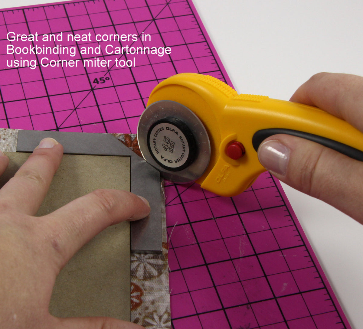 Corner miter tool, stainless steel corner tool for cartonnage, bookbinding and scrapbook - Colorway Arts
