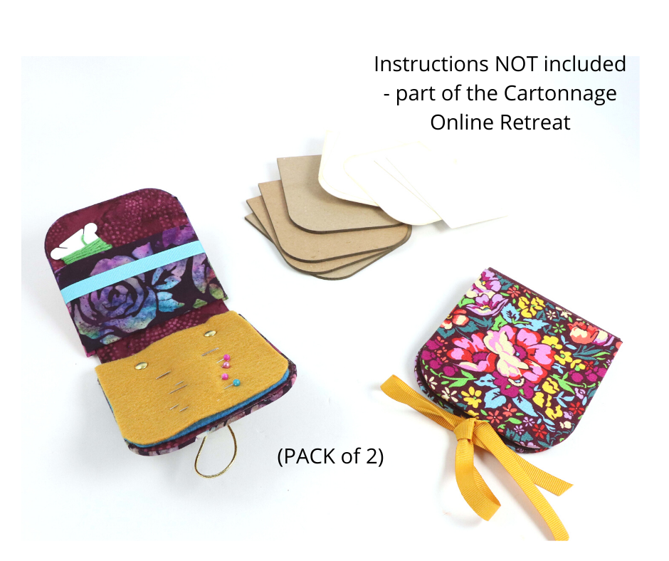 DIY round sewing kit, pack with 2, cartonnage DIY kit 109, instructions NOT included - Colorway Arts