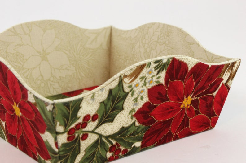 Fabric covered box tray DIY kit, fabric box kit, cartonnage kit 140, online instructions included - Colorway Arts