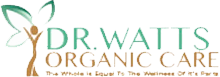 dr watts organic care logo in green and brown letters