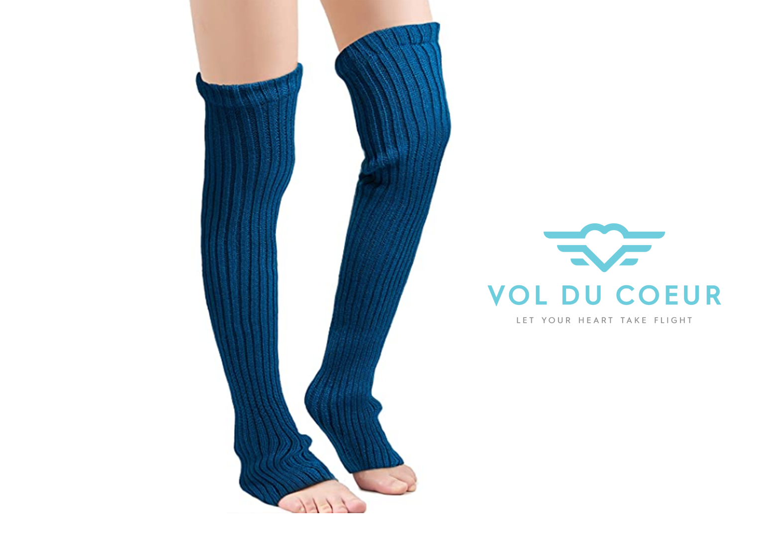 Cozy knit over-knee legwarmers