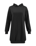 Casual Solid Long Sleeve Hoodies For Women