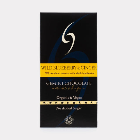 Blueberry and Ginger Chocolate Bar