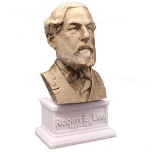Robert E Lee American Civil War General Sculpture Bust on Box Plinth