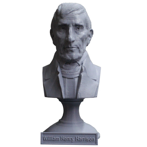 William Henry Harrison, 9th US President, Sculpture Bust on Pedestal