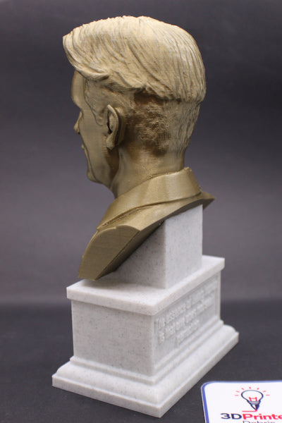 George Orwell, Famous English Novelist, Sculpture Bust on Box Plinth