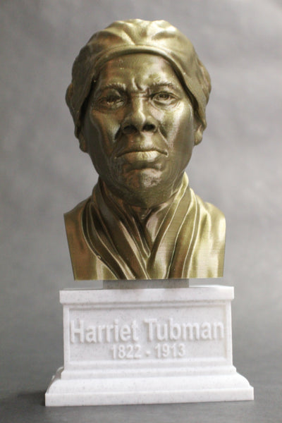 Harriet Tubman American Abolitionist and Political Activist Sculpture Bust on Box Plinth