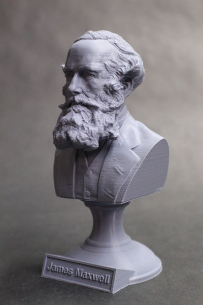 James Clerk Maxwell Famous Scottish Scientist Mathematical Physics Sculpture Bust on Pedestal