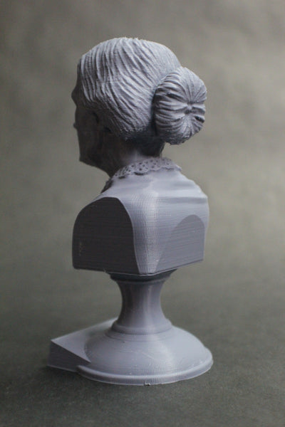 Susan B Anthony American Social Reformer and Women's Rights Activist Sculpture Bust on Pedestal