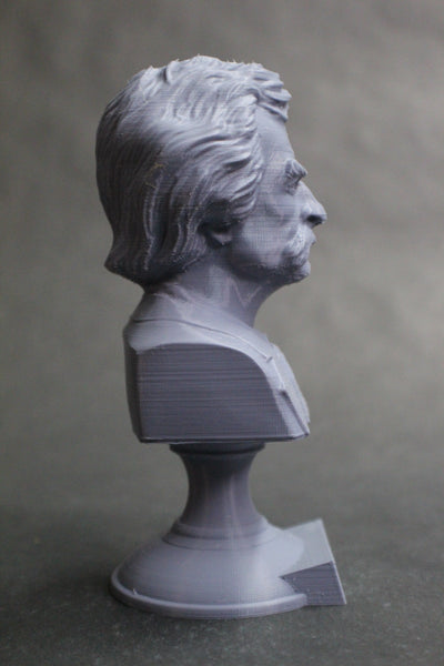 Mark Twain (Samuel Clemens) American Writer Sculpture Bust on Pedestal