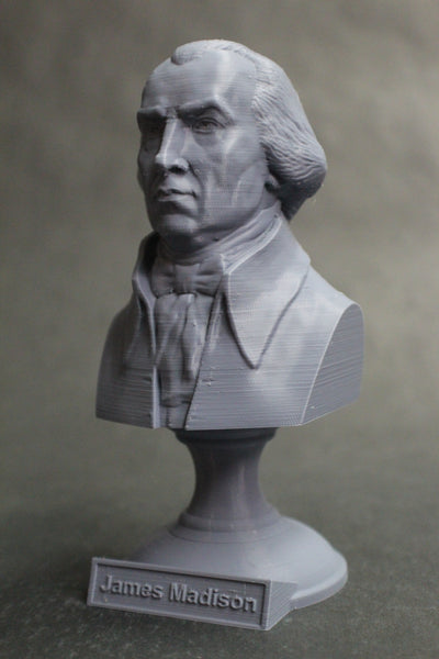 James Madison, 4th US President, Sculpture Bust on Pedestal