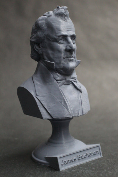 James Buchanan, 15th US President, Sculpture Bust on Pedestal