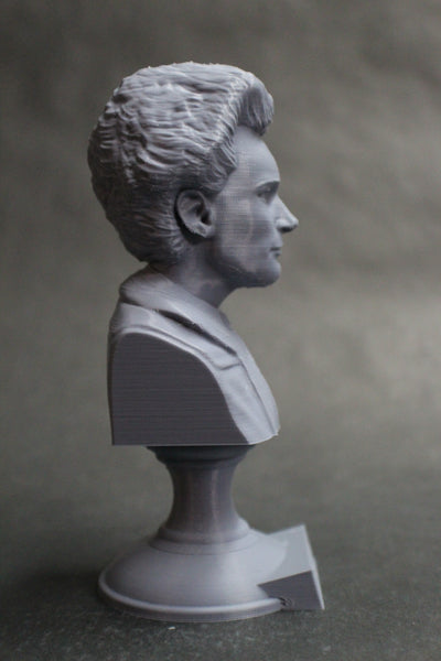 Marie Curie Polish Chemist, Nobel Prize Winner, and Researcher of Radioactivity Sculpture Bust on Pedestal