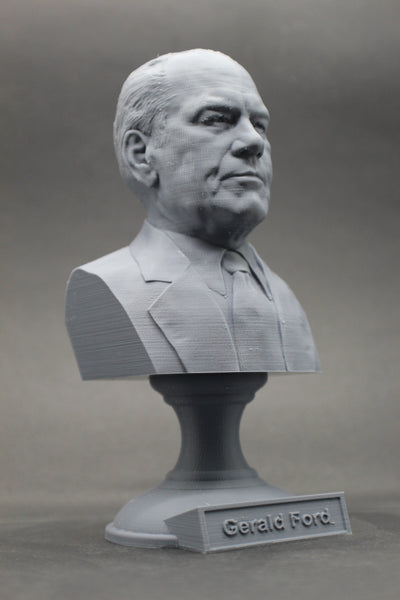 Gerald Ford, 38th US President, Sculpture Bust on Pedestal