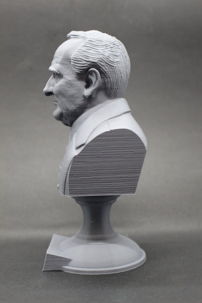 JRR Tolkien English Writer Sculpture Bust on Pedestal