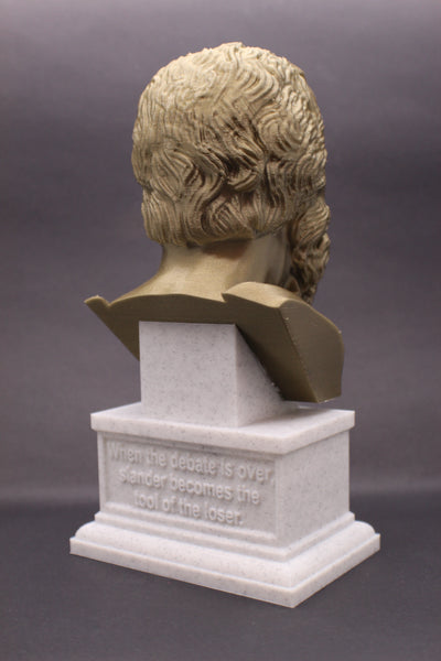 Socrates Greek Philosopher Sculpture Bust on Box Plinth