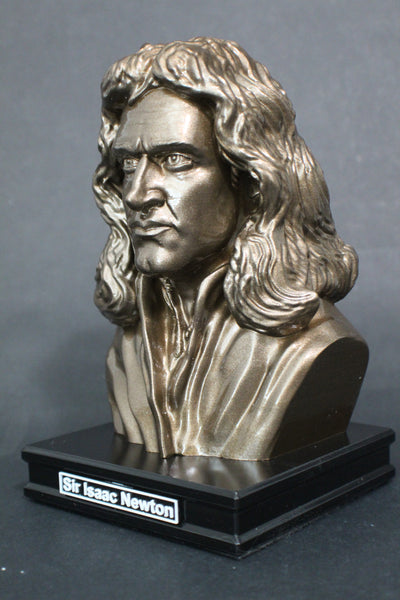 Isaac Newton, Famous English Mathematician, Physicist and Astronomer, Premium Sculpture Bust