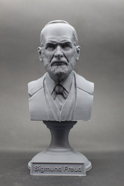 Sigmund Freud Austrian Neurologist and founder of Psychoanalysis Sculpture Bust on Pedestal