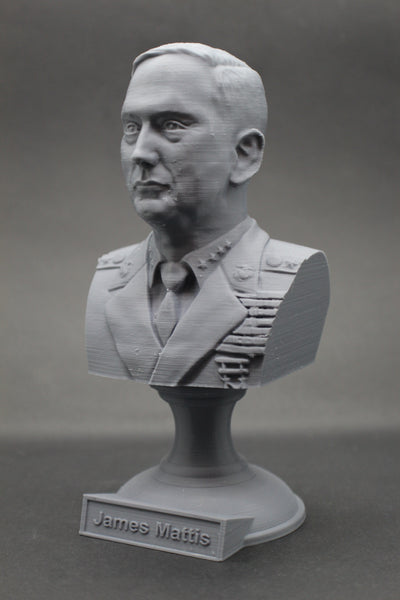 James Mattis USMC General Retired and Former USA SecDef Sculpture Bust on Pedestal