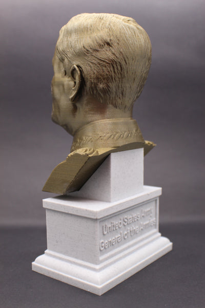 John Pershing Legendary US Army General and General of the Armies Sculpture Bust on Box Plinth