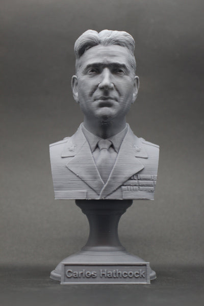 "Carlos ""White Feather"" Hathcock Legendary US Marine Corps Marksman Sniper USMC Sculpture Bust on Pedestal"