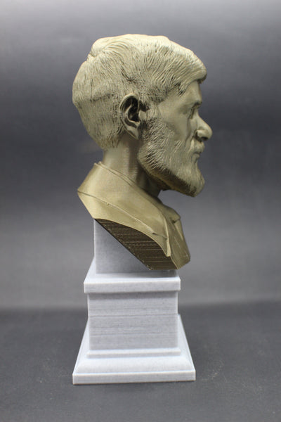 D.H. Lawrence, Famous English Writer and Poet, Sculpture Bust on Box Plinth
