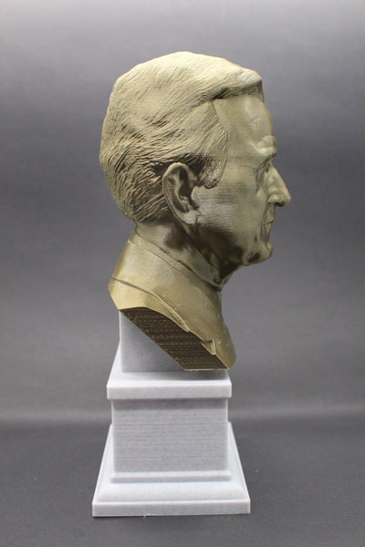George HW Bush, 41st US President, Sculpture Bust on Box Plinth