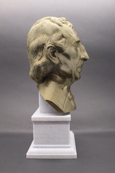 John Tyler, 10th US President, Sculpture Bust on Box Plinth