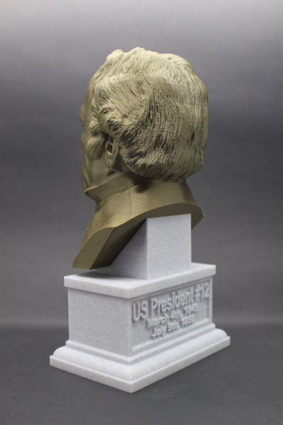 Zachary Taylor, 12th US President, Sculpture Bust on Box Plinth