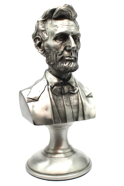 Abraham Lincoln Limited Edition 5 inch Pewter Bust on Pedestal